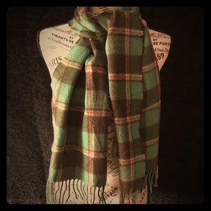 Vintage Ralph Lauren 100% Lambswool Plaid Scarf